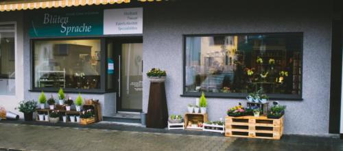 Ladenansicht außen BlütenSprache Münster (Hessen)